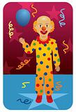 Profession series: Circus clown with balloon