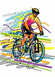 Sport series: Bicyclist