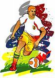Sport series: Soccer / Football player