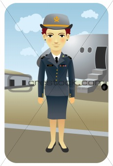 Profession series: Female flight attendant at the airport