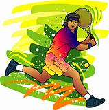 Sport series: Tennis player