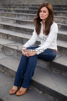 Beautiful young women outdoor portrait