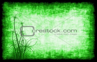 Green Grunge Background Floral