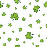 Seamless shamrock background