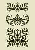 Set of baroque vector  ornaments for design
