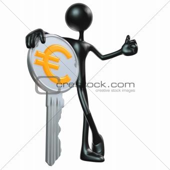 Chrome Euro Key