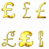 Eccentric Golden Pound Symbols