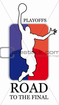 basketball vector badge