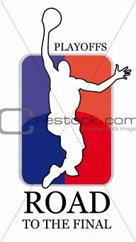 basketball vector badge
