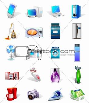 electronics vector icons