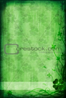 Grunge background with clover
