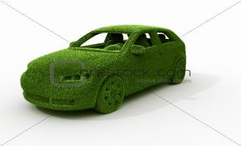 green grass car