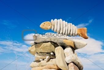 Fish from a stone