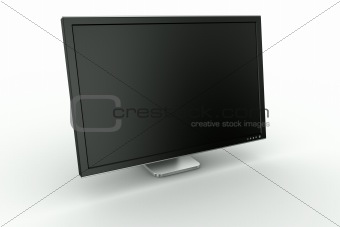 Black plastic and aluminum monitor