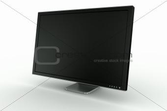 Black plastic and aluminum monitor