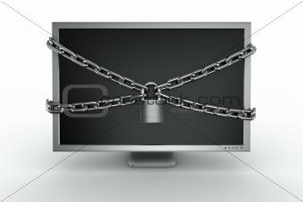 padlocked monitor
