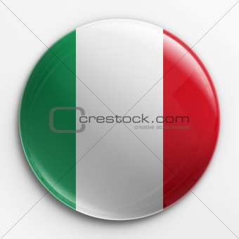 Badge -Italian flag
