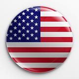 Badge - American flag