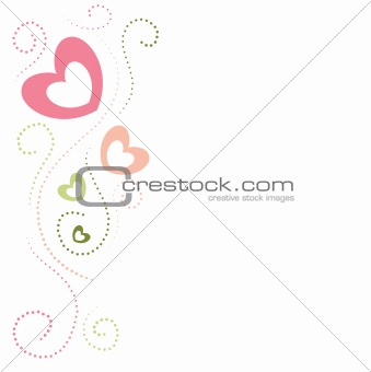 valentine illustration of a background with hearts