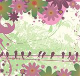 valentine illustration of a background with floral