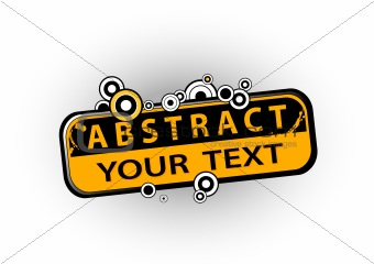 Abstract illustration with text. Vector