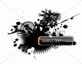 Abstract illustration with place for text. Vector