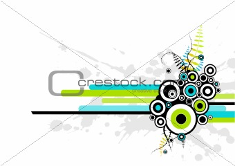 abstract illustration with circles. Vector