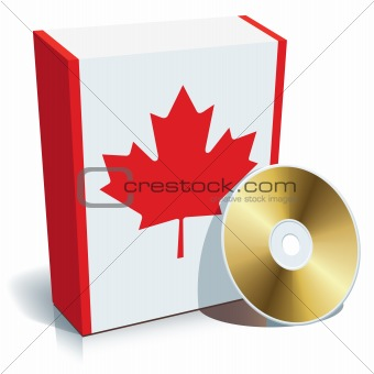 Canadian software box and CD