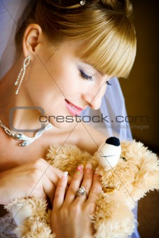 bride and toy