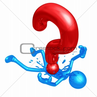 3d person - pressed down by question mark