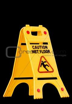 caution wet floor, sign