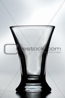 an empty shot glass