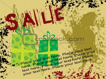 abstract grunge shopping vector background