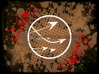 abstract grunge with arrows, vector design1