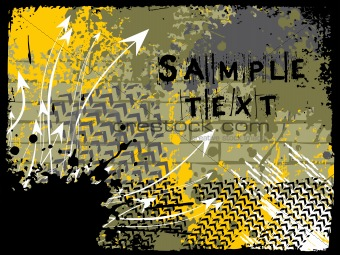 abstract grunge with arrows, vector design11