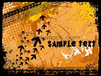 abstract grunge with arrows, vector design16