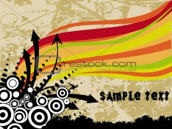 abstract grunge with arrows, vector design3