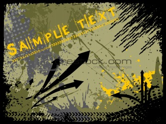 abstract grunge with arrows, vector design4
