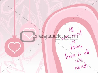 all we need is love, vector
