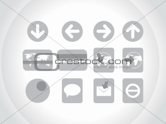 gray icons use for website