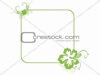 green vector frame of flower corner