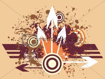 grunge arrow background series, illustration set1