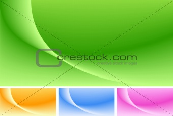 Abstract background in 4 colors. Attractive wave structure.