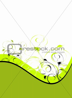 Green floral ornament