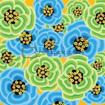 Green spring flower burst