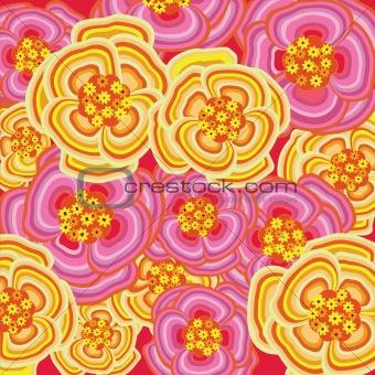 Pink spring flower burst