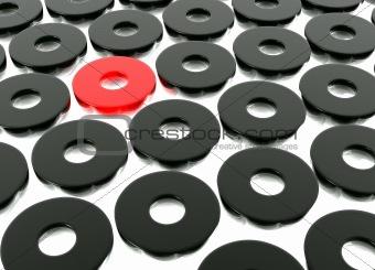 Abstract Black Ring Shapes