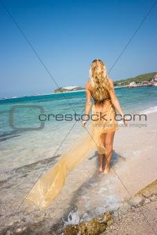 Blond on the beach