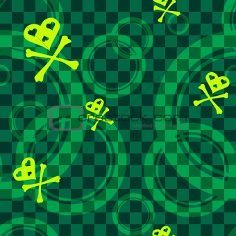 Green Emo seamless pattern with circles