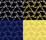 Four seamless gear patterns